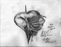 Pictures of realistic broken heart tattoo designs - Tattoo Design Drawings, Heart Tattoo Designs, 3d Drawings, Tattoo Designs For Women, Tattoos For Guys, Tattoos For Women, Broken Heart Tattoo, Tatting, Image