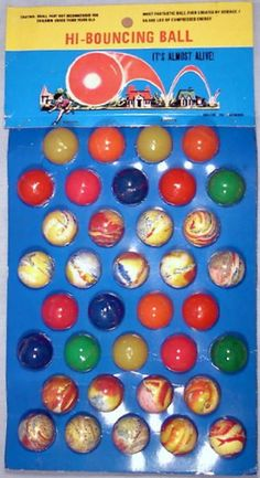 DIME STORE: 1960s Hi-Bouncing Ball Display #Vintage #Toys
