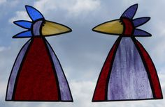 PAIR Stained Glass Bird Suncatchers Stained by GlassPelican