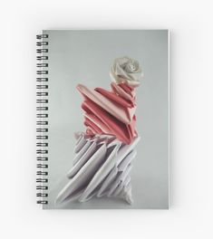 Spirals (a Tomoko Fuse model) and a rose. Folded by me Notebook Design, Spirals, Sell Your Art, Origami, Finding Yourself, Budget, Artists, Rose, Paper