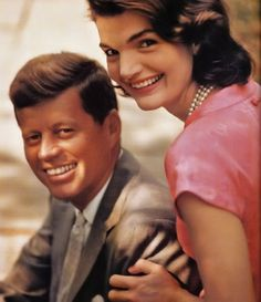 JFK and Jackie Kennedy in Palm Beach, Florida, circa 1958 (via agirlandherpearls.tumblr.com).