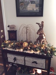 Entrance table Entrance Table, Entrance Decor, Christmas Tree, Holiday Decor, Pictures, Home Decor, Teal Christmas Tree, Photos, Decoration Home