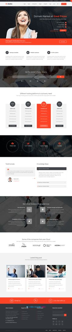 Alaska is a responsive #hosting template built with the latest #bootstrap. It…