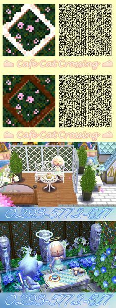 Some pretty trellises with pink roses in white and brown wood for a dreamy garden #ACNL #ANIMALCROSSING #ACNLQR #ANIMALCROSSINGQR #WHITNEY #GARDEN #ACNLFLOWERS #QR #ACNLGARDEN #DREAMADDRESS #TRELLIS #LATTICE #ROSES