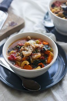 Kale and Chickpea Minestrone - On the table in 30 minutes!