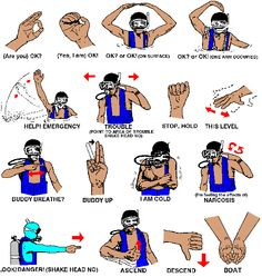 Underwater Hand Signals and Communication