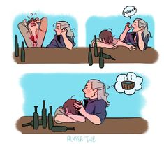 The Witcher Geralt, Witcher Art, The Witcher Books, Youtubers, Fanart, Weird Creatures, Couple Art, Funny Comics, Drawing Reference