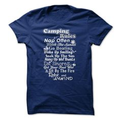Camping RulesGet this shirt if you love to go Camping.camping rules, camper, camp, go camping, bonfire, fire, rv, relax, tent
