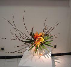 Exposição de Ikebana Sanguetsu no Solo Sagrado de Guarapiranga.