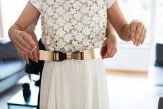 Gürtel in Gold mit Schleife ❤️ #Brautaccessoires #Gürtel