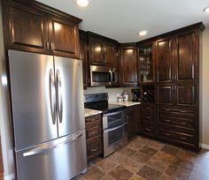 Kitchens - Pedersen Cabinet Works Ltd. Kitchen Cabinets, Kitchen Appliances, French Door Refrigerator, French Doors, Kitchens, Home Decor, Kitchen Cupboards, Diy Kitchen Appliances, Homemade Home Decor