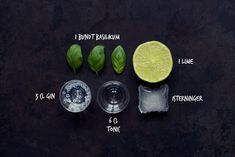 Gin tonic with basil for dummies [in Danish]