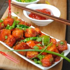 The ubiquitous Indian cheese paneer stir fried in a spicy soy chilli sauce with peppers and onions. A classic Indian Chinese fusion dish