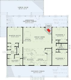 Vaulted Vacation Plan with Great Spaces - 59981ND | Country, Vacation, Photo Gallery, 1st Floor Master Suite, CAD Available, Jack & Jill Bath, Media-Game-Home Theater, PDF, Split Bedrooms | Architectural Designs
