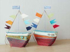 Керамические парусное судно с красочными флагами по ArktosCollectibles: