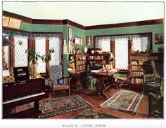 Living Room from Artistic Interiors for Homes by Nat'l Lead Company (1909)