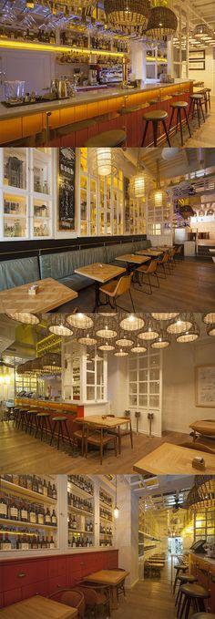 Ohbo organic cafe barcelona dise o de interiores - Diseno interiores barcelona ...