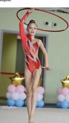 Rhythmic Gymnastics Costumes, Gymnastics Competition Leotards, Gymnastics Suits, Gymnastics Girls, Dance Outfits, Dance Dresses, Red Leotard, Gymnastics Photography, Artistic Gymnastics