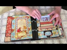 ▶ Graphic 45 Design Team Audition 2014 By the Sea Collection Mini Album & More - YouTube