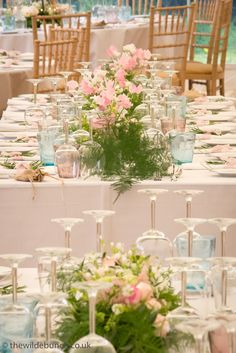 A Wilde Bunch design keeping marquee wedding flowers 'light and summery'. Marquees are naturally light and bright and this summer design with sweet-peas emphasises the natural light. Marquee Wedding, Sweet Peas, Summer Design, Natural Light, Canopy, Garland, Wedding Flowers, Bright, Weddings