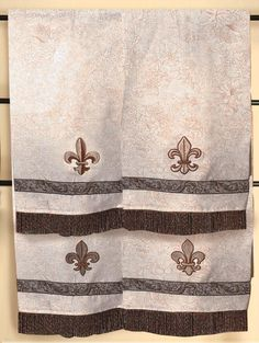 Fleurdelis Black And Gold Towels From Ballard Design FleurDe - Black and gold hand towels for small bathroom ideas