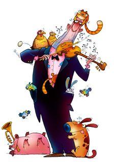 Dobrosav Bob Zivkovic - Ilustrator sa aždajinim repom : Magazin : POLITIKA Music Images, Mans Best Friend, Design Elements, Disney Characters, Fictional Characters, Character Design, Bob, Clip Art, Shapes
