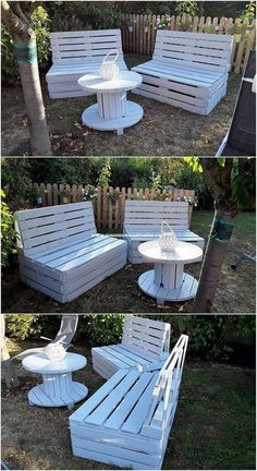 Easy Woodworking Ideas Using Old Wood Pallets Is this brilliant wood shipping pallet creation grabbing … Used Outdoor Furniture, Wooden Garden Furniture, Pallet Garden Furniture, Pallets Garden, Outdoor Decor, Wood Pallets, Outdoor Sofa, Furniture Ideas, Pallet Wood