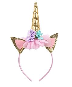 SIFAN Glitter Unicorn Horn Head Band 368bb2d79db9