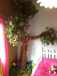 Paper mache tree - like this but in the corner and branches covering the…