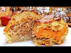 Töltött kel amit imádni fogsz @Szoky konyhája - YouTube Banana Bread, French Toast, Lasagna, Breakfast, Desserts, Ethnic Recipes, Youtube, Food, Lasagne
