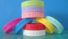 LDS Primary Wristbands and Bracelets with 2012 Primary Theme: Choose the Right