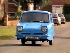 "Reliant Regal,  This was a 3 wheeled car made in the UK and could be driven on a motorcycle license. It was produced between 1953 to 1973 and became a star of the hilarious British sitcom ""Only fools and horses"""