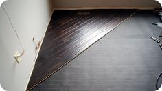 Diagonal Hardwood Flooring