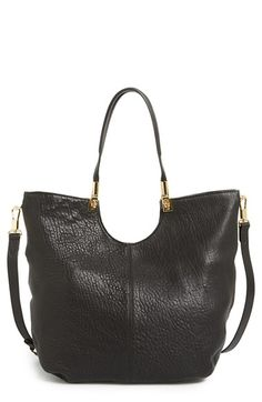 Elizabeth and James 'Cynnie' Large Grain Leather Convertible Shopper available at #Nordstrom