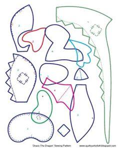 Ekscentryczny Artist Loft: Darmowy Wzór: Draco Smok