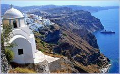 Church on Santorini island, Greece. Breathtaking...