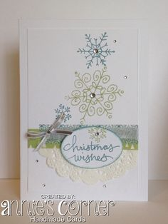 Cased card made with Stampin Up Endless Wishes.