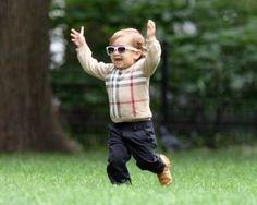 I love seeing babies wearing Burberry... Mason Dash Disick