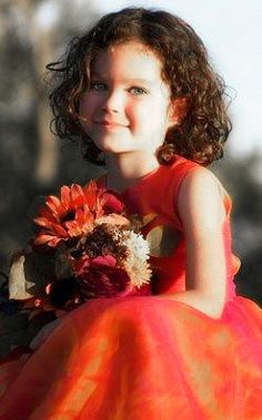 flower girl in orange