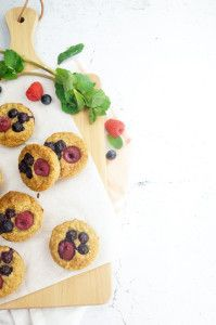 Glutenfree mini-cakes with oats and cottage cheese - Glutenvrije havermout-Cottage cheese cakejes