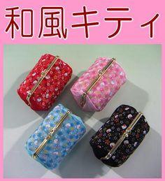 ハローキティ口金コスメポーチ(花ちらし・ちりめん)Hello Kitty pouch Hello Kitty ハローキティ HELLO KITTY はろうきてぃ【がまぐち・コスメポーチ・化粧ポーチ・手作り・和雑貨・京都】for the souvenir of Japan Cool Japan  Cool Japan fs2gm【楽天市場】