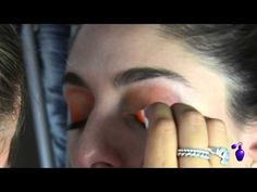 ▶ Halloween Makeup Tutorial | Orange Eye Shadow - YouTube