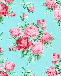 Veranda - Rose Bouquets - Azure