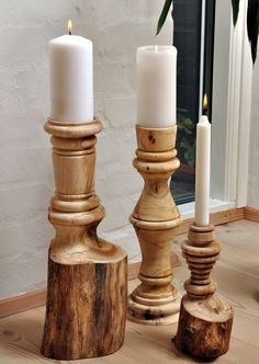 Rå lysestager af Tage Pedersen [These would be great for the patio]