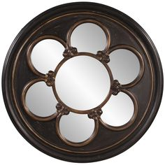 Howard Elliott Delphia Round Mirror 56109