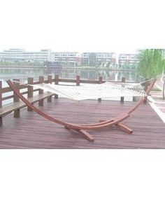 Large Wooden Arc Hammock Stand