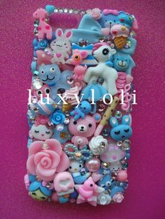Cotton Candy Pastel iPhone 5 Decoden Phone Case. £56, via Etsy.
