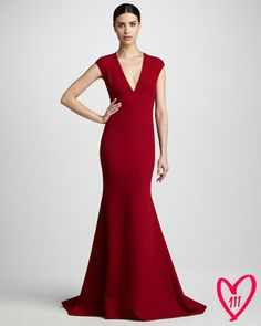 BG 111th Anniversary Deep-V Gown by Carmen Marc Valvo Couture at Bergdorf Goodman. $2200.00