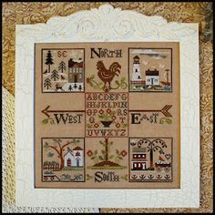 From Little House Needleworks.  Working on this now on milk chocolate aida.  What a name for a fabric!  Don't know whether to stitch it or eat it.  :)