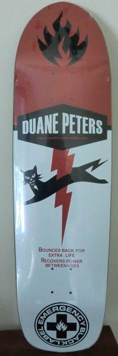 Duane Peters model skateboard by Black Label. Nine lives...